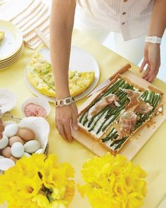 Brunch, asparagus tart