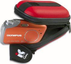 Borsa macchina fotografica semirigida colore rosso