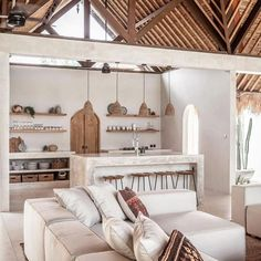 Beautiful interior design and styling great pic by Perfect harmony Beautiful Interior Design, Beautiful Interiors, Kitchen Interior, Kitchen Design, Bali Style Home, Minimal House Design, Open Plan Kitchen Living Room, Inspired Homes, Home Decor Inspiration