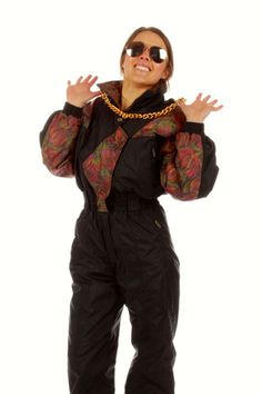 Vintage Ski Onesie  | Get your vintage ski gear and all manner of outrageous threads at Shinesty.com