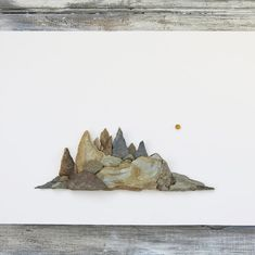 After making my first mountain range I just had to make another:) Mountain Crafts, Mountain Art, Mountain Range, Cute Crafts, Crafts To Do, Arts And Crafts, Sea Art, Sea Glass Art, Pebble Painting