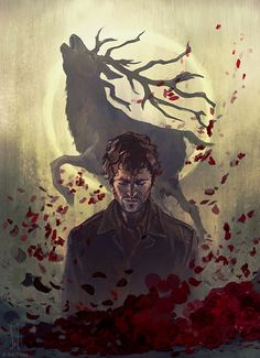 soldevia:  As promised, Will Graham, the second half of the illustration, the other half is Dr. Hannibal.All Ps, not-so-many reference pics on this one (Hugh Dancy have an easier face to paint than Mads Mikkelsen X_X)It was used as the cover of custom handmade notebooks by Arquicroquis