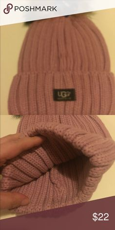 Ugg hat Brand new ugg hat pinkish color this is not authentic looks better then real one just fraction of cost UGG Accessories Hats