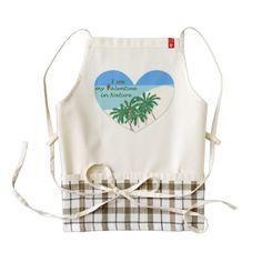 I see my valentine in nature zazzle HEART apron - Saint Valentine's Day gift idea couple love girlfriend boyfriend design
