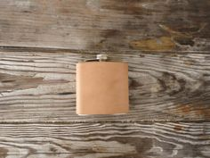 Vegetable tanned 6oz Flask by FleetCo on Etsy, $40.00