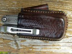 Horizontal carry holster for Leatherman Charge by Freedom LeatherCraft.