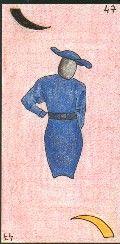 47- LA FEMME - Carte NEUTRE : Femme de plus de 30 ans et de moins de 65 ans. A l'endroit, brune - A l'envers, blonde  Personnalité : Personne intraitable en affaires. Caractère fort. http://othoharmonie.unblog.fr/category/oracle-ge/