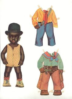 Little boy in a bowler hat - Antique paper dolls and paper toys to make - Joyce hamillrawcliffe - Picasa Web Albums Black / African-American / people of color paperdolls