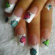 UÑAS Us Nails, Love Nails, Pretty Nails, Hair And Nails, Nail Art Studio, Perfect Nails, Nail Tips, Nail Art Designs, Projects To Try