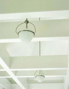 Industrial-Style Lighting for non-studio side of basement..works with exposed beams (we should paint the beams!)