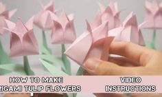 How to make origami tulip flowers video instructions