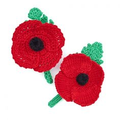 Poppy Knitting Pattern for Knitted and Crochet Poppy Crochet Motifs, Crochet Flower Patterns, Knit Or Crochet, Crochet Crafts, Crochet Stitch, Knitted Poppy Free Pattern, Poppy Pattern, Knitted Poppies, Knitted Flowers