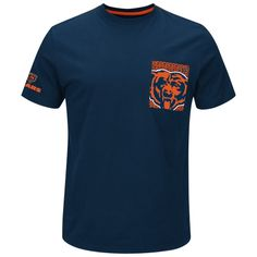 NFL Chicago Bears Majestic Strong Drive Pocket T-Shirt - Navy