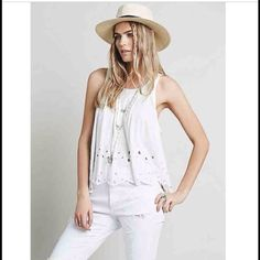 Free People Attina Tank New with Tags. Like new condition. Free People Tops Tank Tops