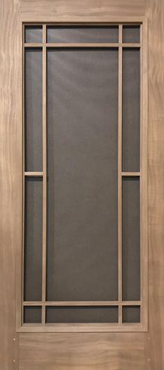 Mesh Screen Door, Custom Screen Doors, Net Door, Front Door With Screen, Wood Screen Door, Modern Front Door, Front Door Design Wood, Main Door Design, Craftsman Front Doors