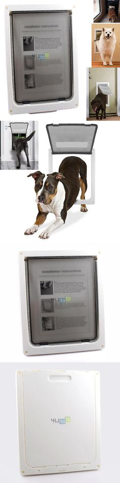 Doors and Flaps 116379: Extra Large Xl 16 X 13 Automatically Magnetic Lockable Pet Cat Dog Flap Door -> BUY IT NOW ONLY: $38.9 on eBay!