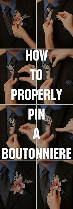 how-to-pin-a-boutonniere: