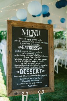 Chalkboards: find a frame you like, paint it with chalkboard paint- menus, program replacement, welcome sign, etc.
