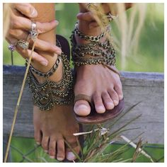 Angelina Anklet - I thought these were sandals. They are handmade anklets- magnificent!!