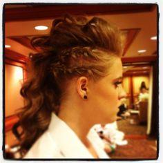 Mohawk time! Hair beauty updo