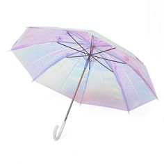 Holographic Stick Umbrella - Detroit Institute of Arts Museum Shop Dog Umbrella, Fishing Umbrella, Clear Umbrella, Umbrella Holder, Cool Umbrellas, Umbrellas Parasols, Funny Candles, Cantilever Umbrella, Dawn And Dusk