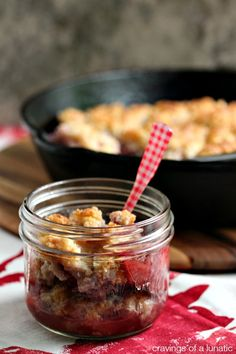 Strawberry Cobbler | Super easy to make and absolutely delicious. Perfect for strawberry season, or use frozen berries all year round. Enjoy...