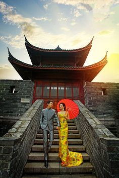 Pre-wedding photography at Qingchun Ancient Tower to give an oriental touch for the moment of your life.	#prewedding #tietheknot