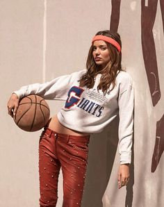 Cropped sweater with fashionable vintage print  - as seen on Miranda Kerr