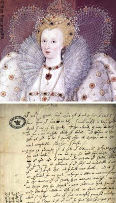 Elizabeth I used 'text-speak' in a letter to her favorite, Robert Dudley ....
