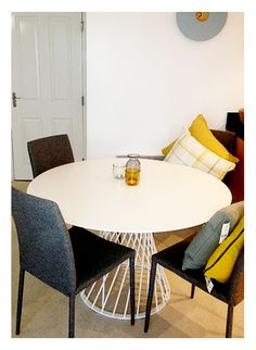 We are loving Micheal and Clare's dining area, their new Scarpa chairs look a treat.