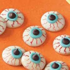 these halloween cookies are a real eyefull