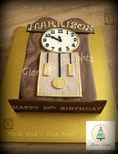 grandfather clock cake - Google Search