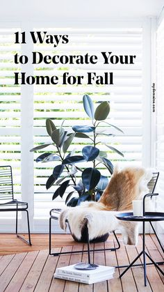 Fall decorating tips.
