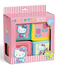 Take a look at this Hello Kitty Baby Soft Block Set by Hello Kitty on #zulily today!