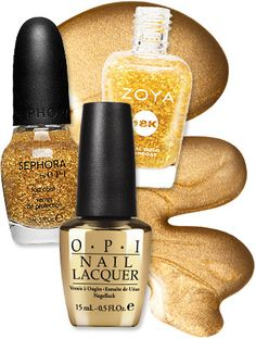 Give your tips the Midas touch with golden polish from @Sephora, OPI or Zoya! http://news.instyle.com/2012/11/01/gold-leaf-nail-polish/#