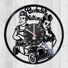 21_2 Handmade Wall Clocks, Old Vinyl Records, How To Make Wall Clock, Record Art, Clock Art, When I Grow Up, Vinyl Art, Rockabilly, Carving