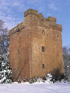 Affleck Castle in County Angus, Scotland