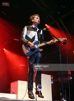 Alex Kapranos of Franz Ferdinand performs as part of The Summer Series at Somerset House on July 16, 2014 in London, England.