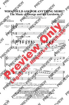 Who Could Ask for Anything More? (SATB) arr | J.W. Pepper Sheet Music