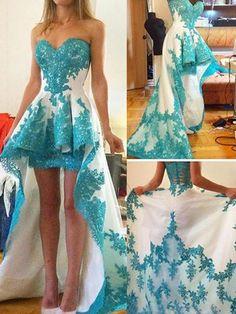 High-Low Prom Dresses Sexy Sweetheart Sheath/Column Prom Dress/Evening Dress JKL103
