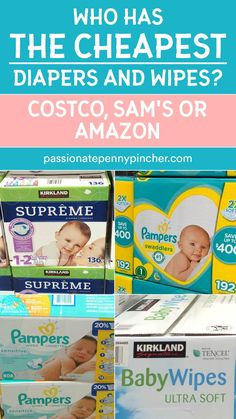 If you're shopping for diapers and baby wipes, we're comparing the Costco diapers prices with Sam's Club and even Amazon! Find out who wins and has the best prices! Curious which warehouse offers the best prices on diapers and baby wipes? Or how the prices compare to Amazon?We thought it would be interesting to compare the prices of Costco diapers and wipes with Sam's Club (and Amazon, too!) – so we could see who really has the best baby deals! Sam's Club, Amazon Price, Budgeting Tips, Costco, Ways To Save, Money Saving Tips, Warehouse, Things To Think About