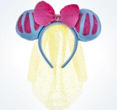 disney parks princess snow white bow & veil ears headband new with tags