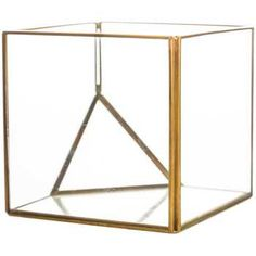 Small Square Gold Metal & Glass Terrarium | Hobby Lobby | 1116763