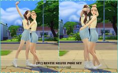 Bestie Selfie Pose Set So here I am sharing with all of you my very first couple pose set. XD  Seriously, it is harder than single person one. You have to put extra time one it for adjusting the...