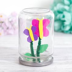 Butterfly Jar   Free Craft Ideas   Baker Ross