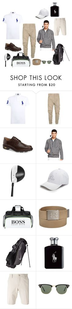 """""""Golf"""" by sharon-chetty ❤ liked on Polyvore featuring Polo Ralph Lauren, Balmain, ECCO, Ralph Lauren, TaylorMade, J.Lindeberg, BOSS Green, Under Armour, Nike Golf and Loro Piana"""