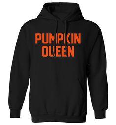 New to FloxCreative on Etsy: Pumpkin Queen hoodie sweater halloween costume slogan costume king couple jumper grey black maroon hipster tumblr instagram 630 (22.95 GBP)