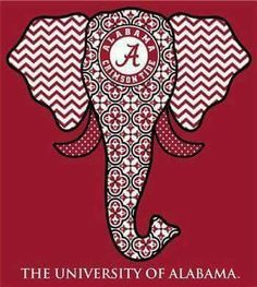 f1d130bfbabbf Southern Couture Alabama Crimson Tide Bama Tribal Chevron Elephant Long  Sleeve Girlie Tee Shirt Available in sizes- This shirt is PreShrunk Cotton  and is ...