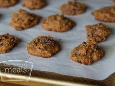 Paleo Pumpkin Cranberry Breakfast Cookies recipe #freezercooking #paleo #pumpkin
