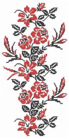 Flowers Embroidery machine cross stitch digital design. Roses   Etsy Cross Stitch Tattoo, Cross Stitch Rose, Embroidery Motifs, Machine Embroidery Designs, Bead Loom Patterns, Cross Stitch Patterns, Cross Stitch Cushion, Loom Beading, Crochet